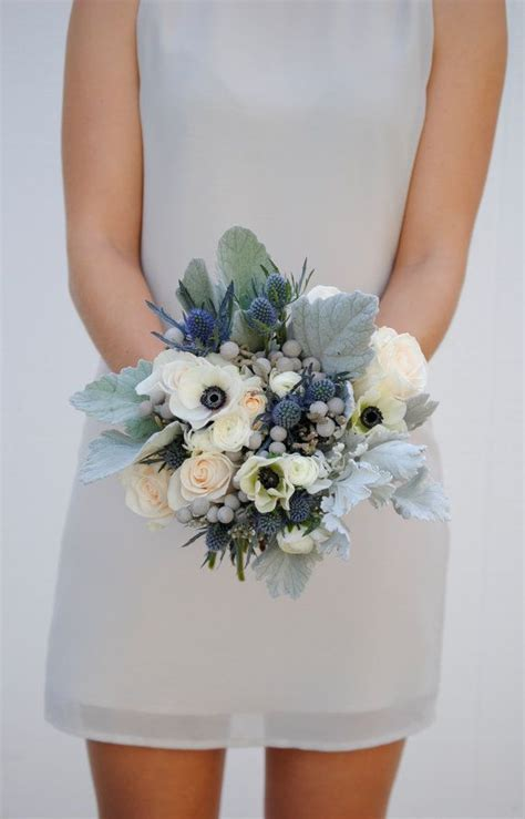 Wedding Bouquet Navy Blue by Navy Blue Wedding Flower Package Dusty Blue Wedding