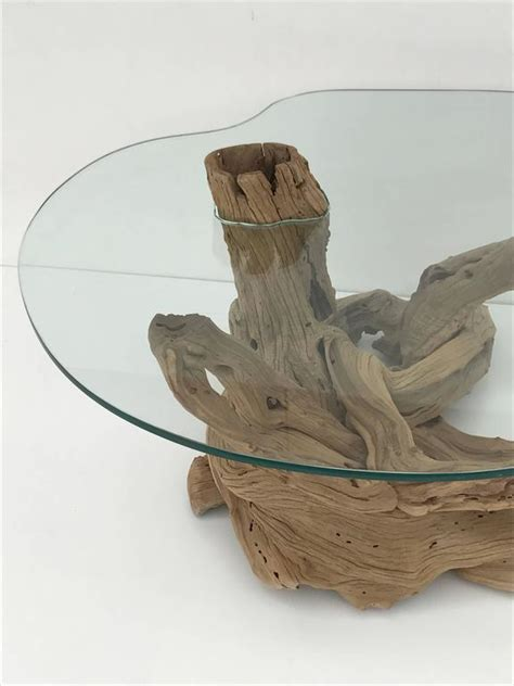 Driftwood Table L Free Form Driftwood Coffee Table For Sale At 1stdibs