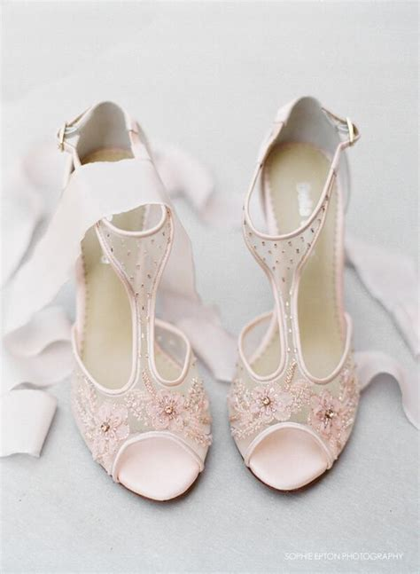 blush flower shoes the news in wedding shoes trend