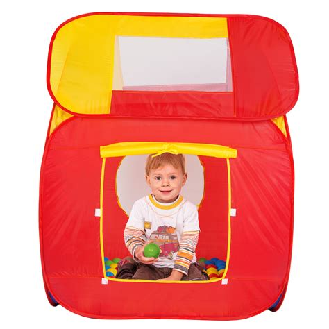 Pop Up 200 S childrens pop up pit play tent with 200 balls