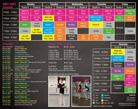 14 best images about dance studio brochure sles on