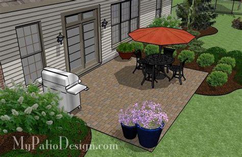 DIY Paver Patio Design   Downloadable Plan ? MyPatioDesign.com