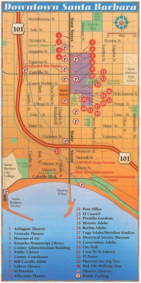 california map near santa barbara 25 best ideas about downtown santa barbara on
