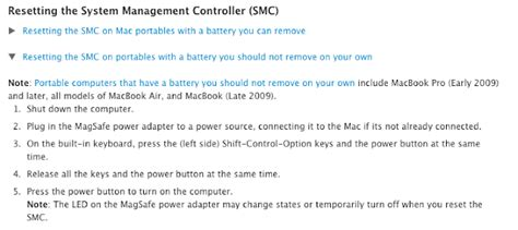 reset the system management controller on your mac my macbook pro is alive