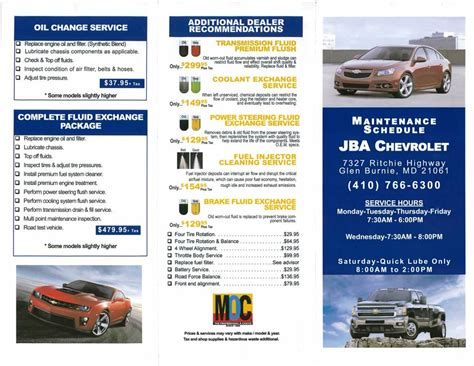 jba chevrolet glen burnie md jba chevrolet service menu in glen burnie md vehicle