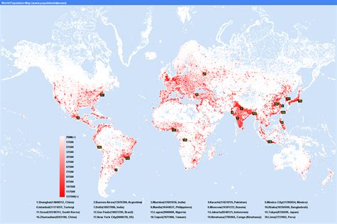 us map with cities by population world population map statistics graph most populated cities