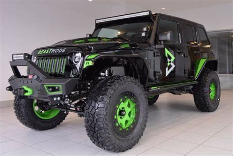 Beast Mode Jeep marshawn lynch has 24 beast mode jeeps built for charity