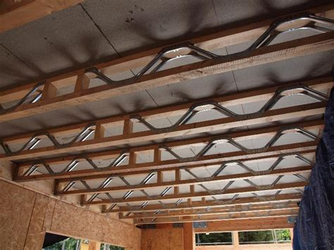 Trussed Joists In A Timber Frame House Vision Development House Floor Joists Construction