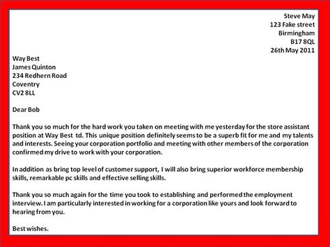 thank you letter to my for the opportunity thank you letter for business opportunity sle the