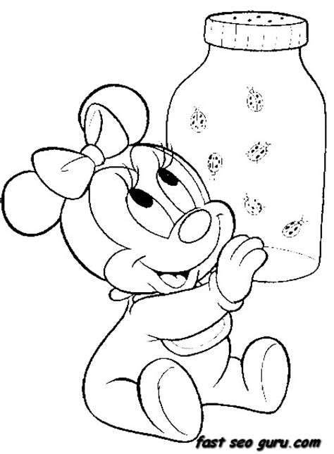 baby minnie mouse coloring pages print free coloring pages of disney baby characters