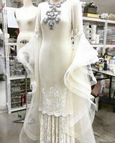 Dress Putih Flower 001 melinda looi ivory 2015 baju akad nikah modern baju pengantin terkini white bridal