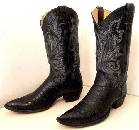 gator boots for reserved black alligator cowboy boots with wingtips