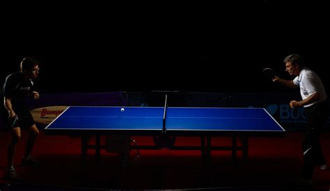 Meja Tenis Meja Tournament ping pong table with spinning net gambar mansyah artita nir lapangan tenis meja