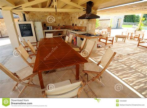 Open Air Kitchen by Open Air Outdoor Kitchen Stock Image Image 10343061