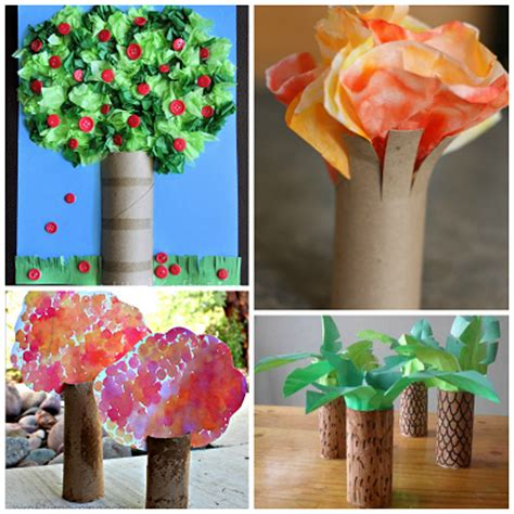 Toilet Paper Roll Crafts For Preschoolers - toilet paper roll tree craft ideas for crafty morning