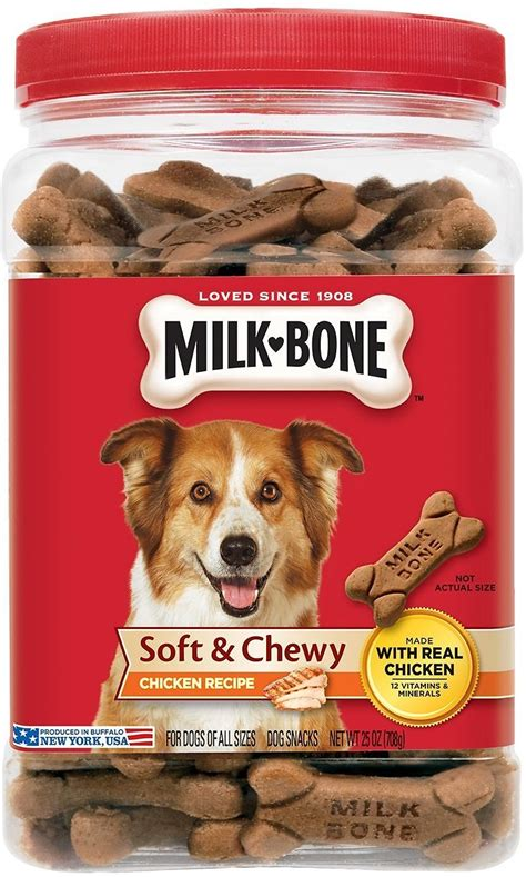 soft treats milk bone soft chewy chicken recipe treats 25 oz tub chewy