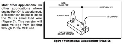 dual ballast resistor chrysler does anyone of a viable substitue for the 2 restistors in the ignition circuit on a 77 924
