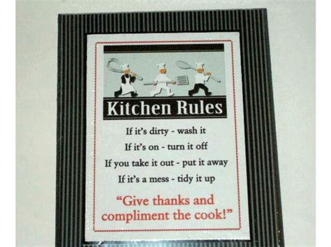 Kitchen Apples Home Decor by Chefs Plaque Kitchen Rules Chef Wall Decor