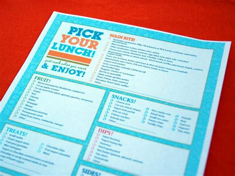 6 best images of create your own printable menus