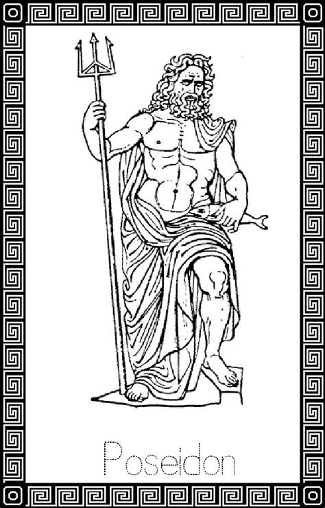 free coloring pages of list of greek gods