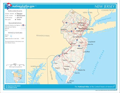 new jersey map in usa map of east coast usa atlantic city