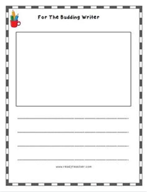 lined writing paper with picture space write and draw lined paper with space for story