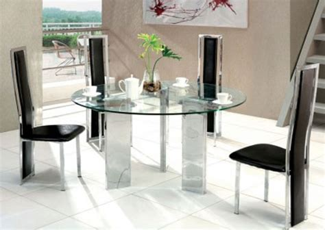 tetris glass dining table small 4 x d231 chairs