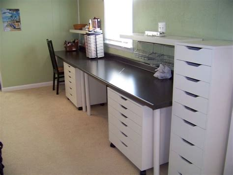 scrapbooking cabinets and workstations scrapbooking desk countertop desk with two