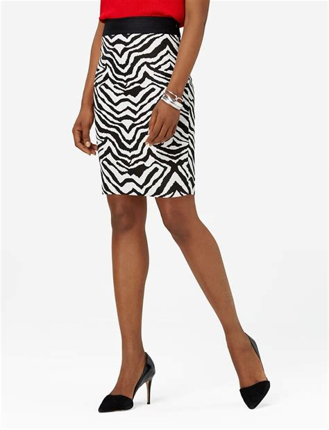 zebra print pencil skirt animal print pencil skirt the