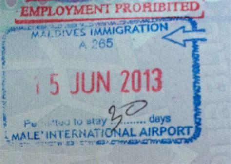 consolato maldive maldive visto visa on arrival