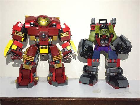 lego hulkbuster tutorial lego hulk armor vs hulkbuster custom moc led