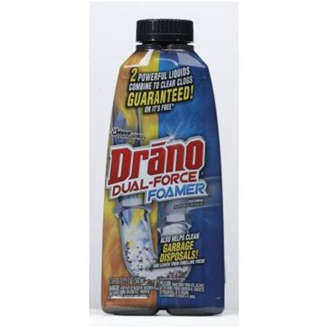 drano 17 oz foaming liquid drain cleaner 014768 the