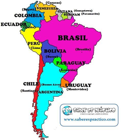 mapa politico de america con todos los paises 191 cu 225 ntos pa 237 ses tiene am 233 rica sur saber es pr 225 ctico