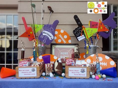 sports themed decorations sports theme birthday