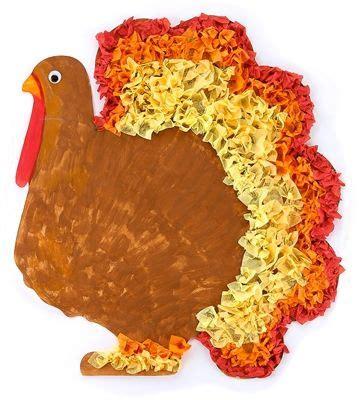 Tissue Paper Turkey Craft - tissue paper thanksgiving and turkey on