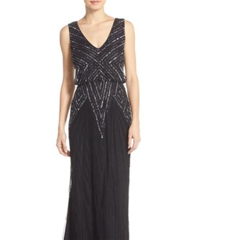 beaded mesh blouson gown 66 papell dresses skirts beaded mesh
