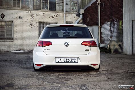 stanced volkswagen golf stanced volkswagen golf tsi mk7 rear