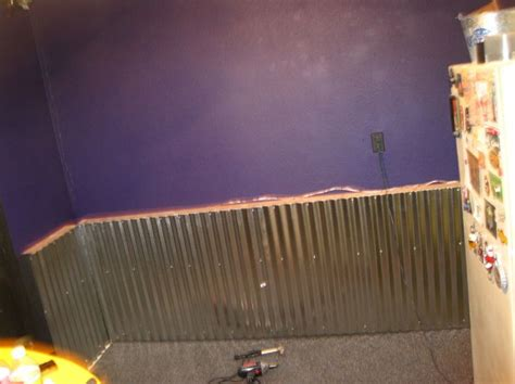 Metal Wainscoting Ideas by How To Adding A Corrugated Metal Quot Wainscoting Type Quot Wall
