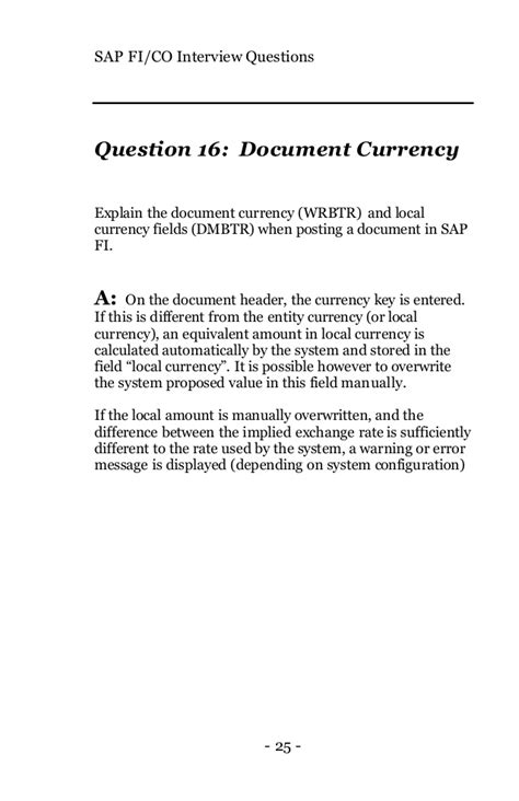 Mba Questions With Sle Answers by Sap Fico Interview Questions Answers Explanations