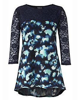 Cmr Donita Navy Blouse plus size tunics s tunic tops tunic tops fifty plus