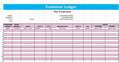 subsidiary ledger template 5 general ledger templates excel word pdf microsoft