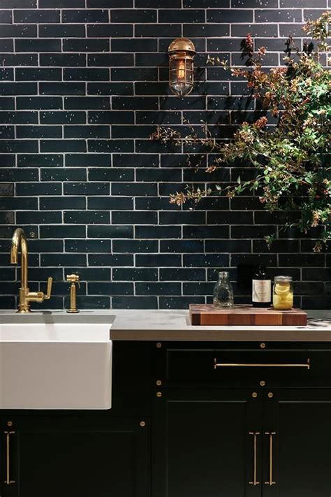 black subway tile kitchen design inspiration my warehouse home