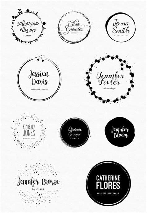 circle logo template feminine logo templates circle edition