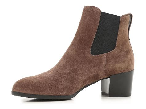heeled chelsea boots heeled chelsea boots in brown suede leather