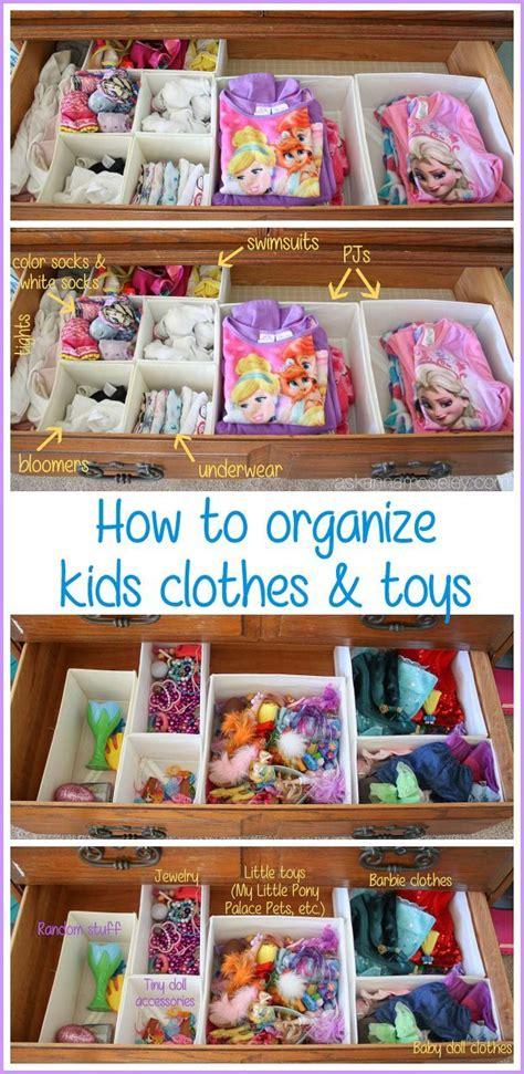 Get Organized In A Fashion Way by The Easiest Way To Organize Clothes And Toys And