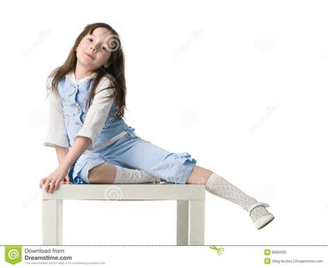 little girl on chair little girl on chair royalty free stock photo image 8690035