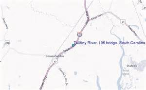 map of carolina along i 95 tulifiny river i 95 bridge south carolina tide station