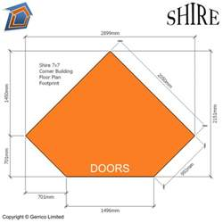 Metal Home Floor Plans by Shire Barclay 7x7 Corner Summerhouse