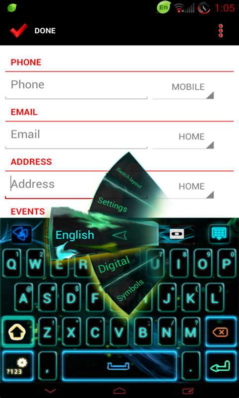 go keyboard themes free download for android phone go keyboard neon flame theme free android app android