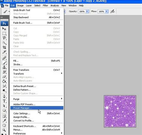 pattern manager photoshop creare immagini glitterate con photoshop total photoshop